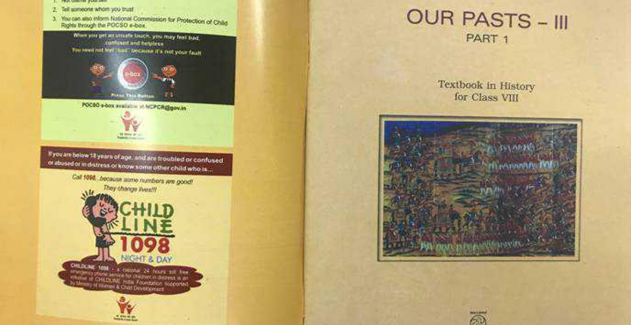 Childline and POCSO e-Box Information provided to children through NCERT Textbooks