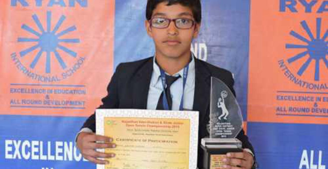 Naman Sharma of Ryan bags 3rd position in tennis championship