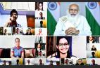 PM Surprises The Attendees, Joins In On The Class 12 Virtual Session