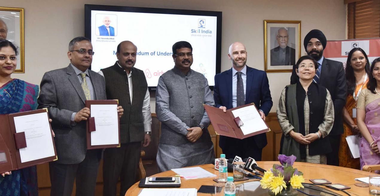 Airbnb to support Skill India mission by creating and Empowering 50,000 Hospitality Entrepreneurs in India