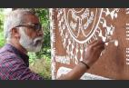 This Art Teacher Drew The Pain Of Migrant Workers & Frontline Workers In Warli Art On His House Walls