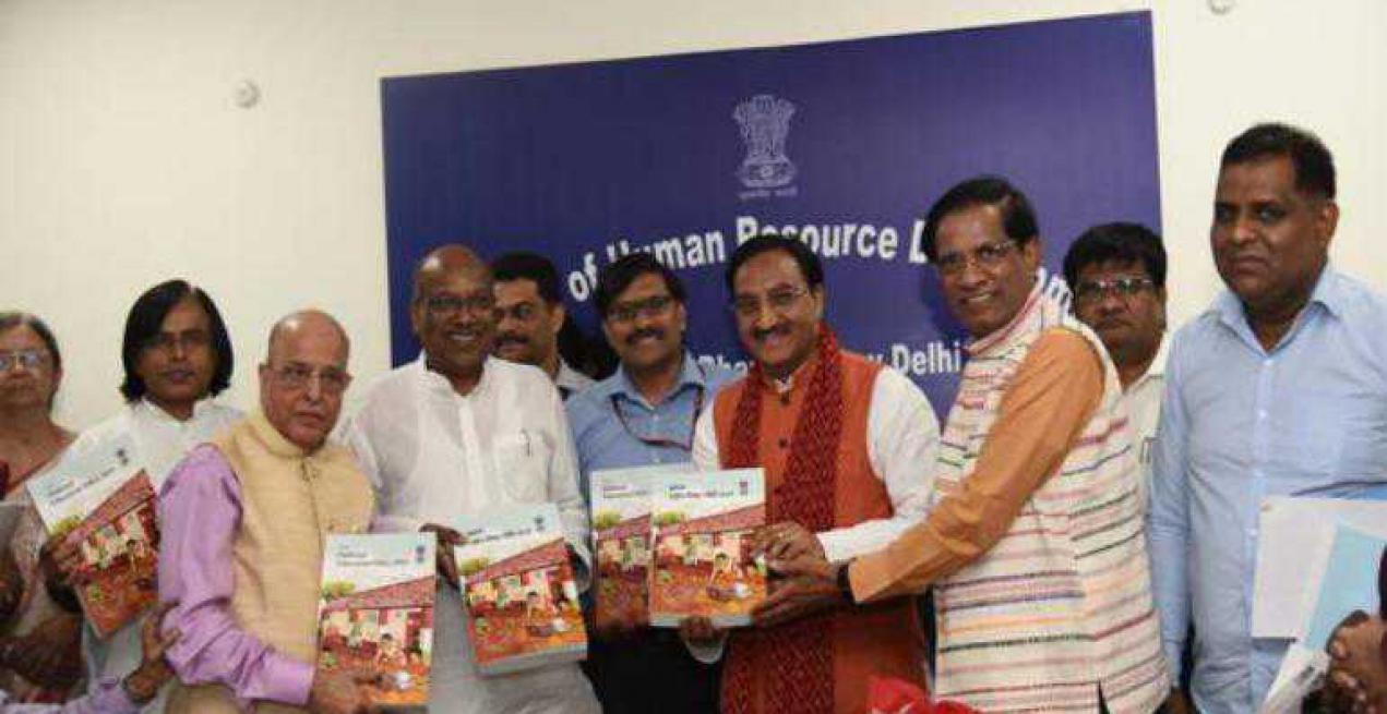 Dr K. Kasturirangan Committee submits the Draft National Education Policy to the Union HRD Minister