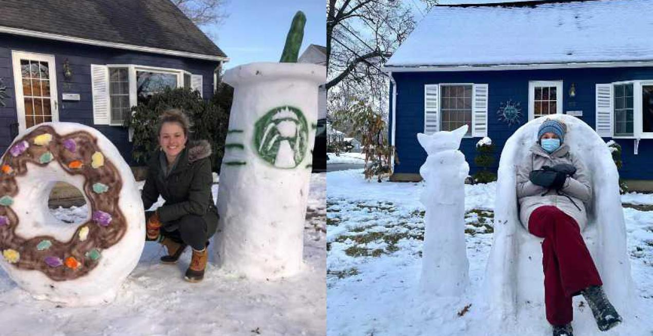 This Educator's Snow Sculptures Are Winning Hearts Of Her Students